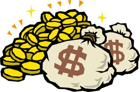 The mountain of money  向量圖像