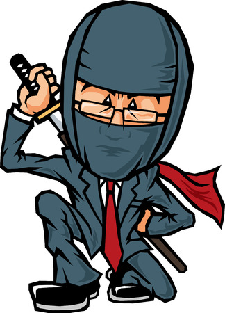 Ninja father salaryman Illustration