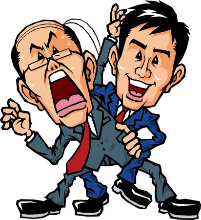 salaryman: I put a wrestling skills to boss