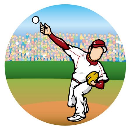 hardball: Baseball image Illustration