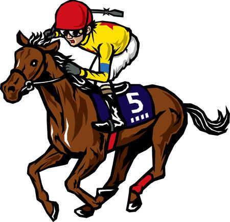 racing: Horse racing Illustration