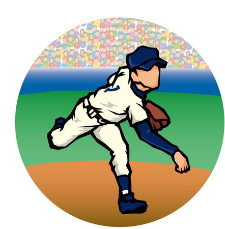 pitchers mound: Baseball image Illustration