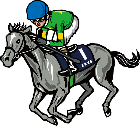 racing: Horse racing Illustration