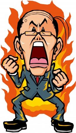 Hot-blooded businessman Illustration