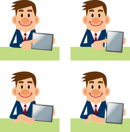 described: Men described in tablet