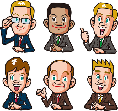 subordinates: Various businessman