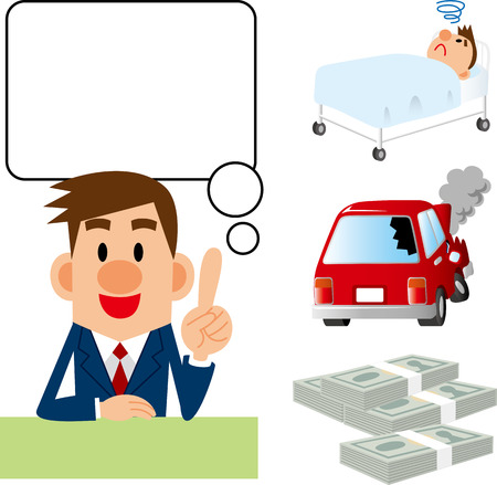Insurance counselor Illustration