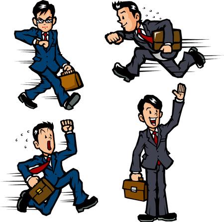 ビジネスマンの行動  イラスト・ベクター素材