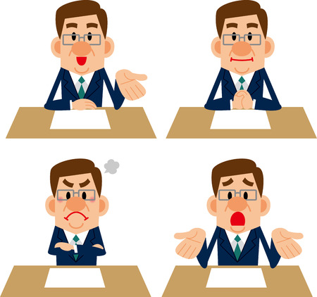 career counseling: Emotions of businessman