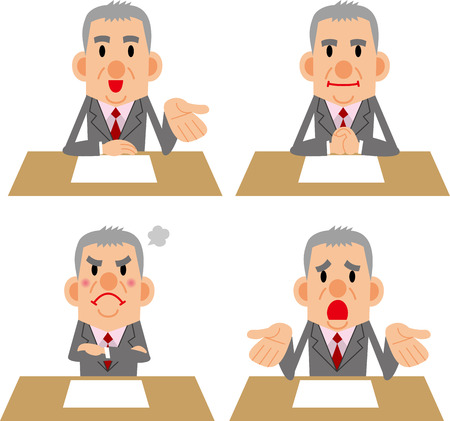 is troubled: Emotions of businessman