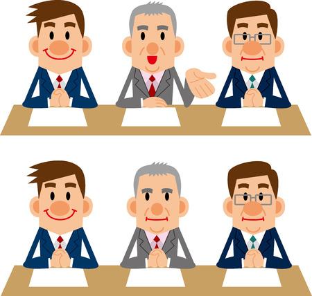 china business: Interviewer Illustration