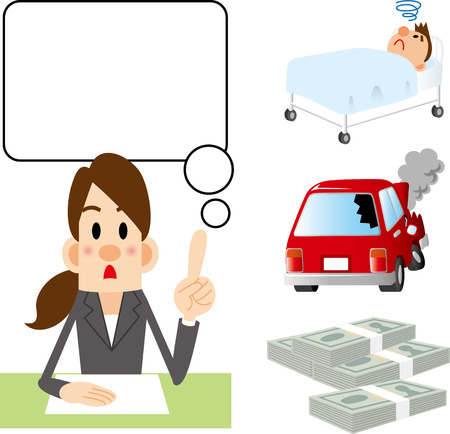 car salesperson: Insurance counselor Illustration