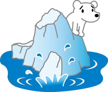 pathetic: Polar Bear and ice floe