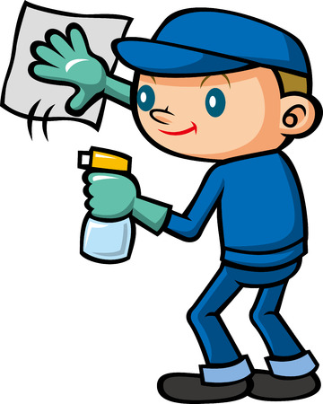 suppliers: Cleaning staff Illustration