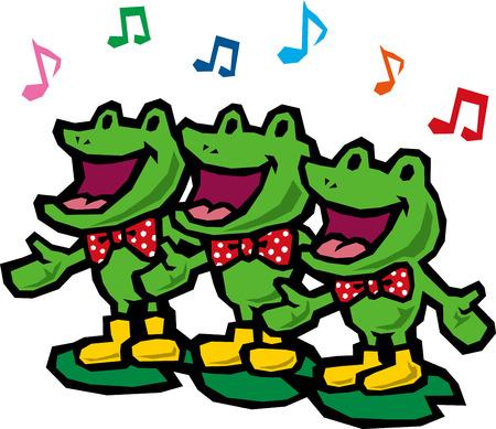 early spring: Frog chorus