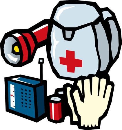 Biens d'urgence Banque d'images - 40848966