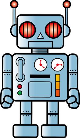 レトロなロボット  イラスト・ベクター素材