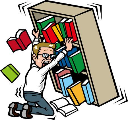 Those who hold the bookshelf in the earthquake