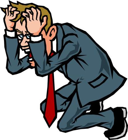 Businessman facing the head