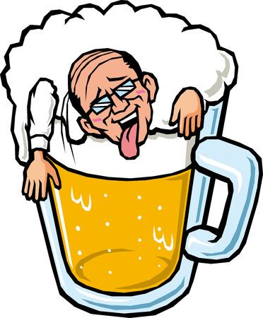 人々 酒に酔って  イラスト・ベクター素材
