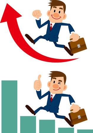 業績およびビジネスマン
