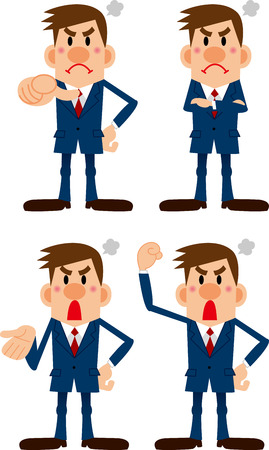 bellow: Angry businessman