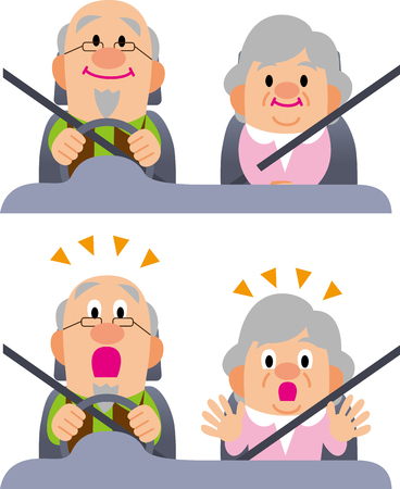 Autofahrer der älteren Menschen Standard-Bild - 52796015