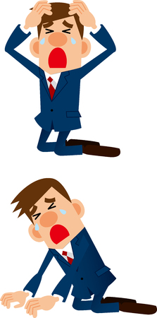 cried: Businessman from falling Illustration