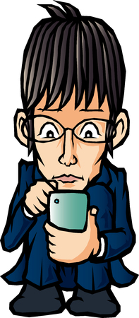 new employees: Business man fiddling with a mobile phone