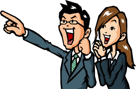 guts: Businessman rejoice Illustration