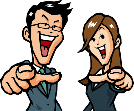 rejoice: Businessman rejoice Illustration