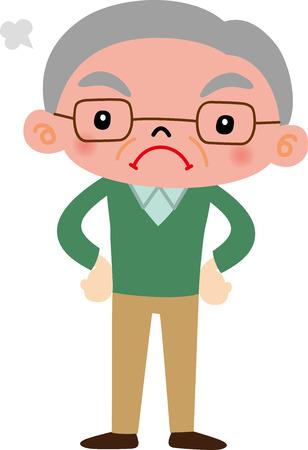 old nursing: Grandfather Illustration