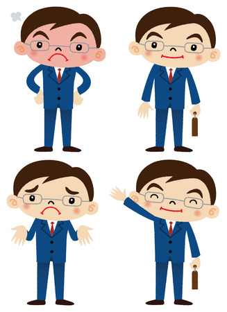 salaryman: Businessman Illustration