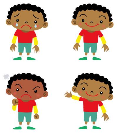 niños negros: muchacho