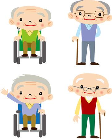 Grootvader Stock Illustratie