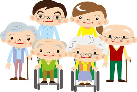pflegeversicherung: Die �lteren Menschen und Langzeitpflege Krankenschwestern