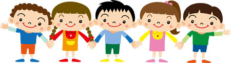 humankind: Holding Hands children Illustration