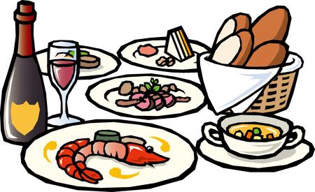 Französische küche clipart  Cuisine Lizenzfreie Vektorgrafiken Kaufen: 123RF