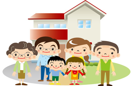 Family and home Illustration