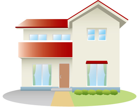 windows home: Residential home Illustration