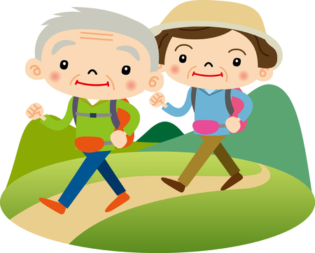 hiking: hiking Illustration
