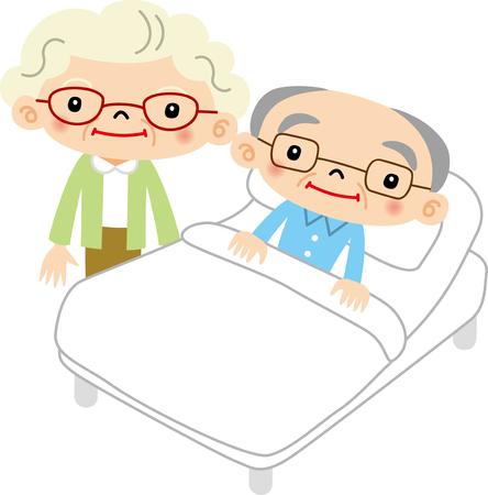 elderly care: elderly care Illustration