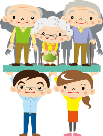 Young people support the elderly