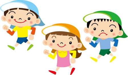 niño preescolar: Alumno de Kindergarten Vectores