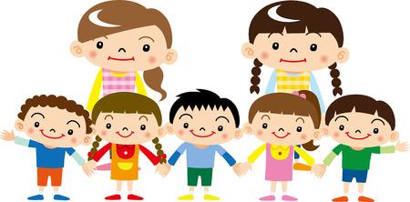 niño preescolar: Guardería y jardín de infantes