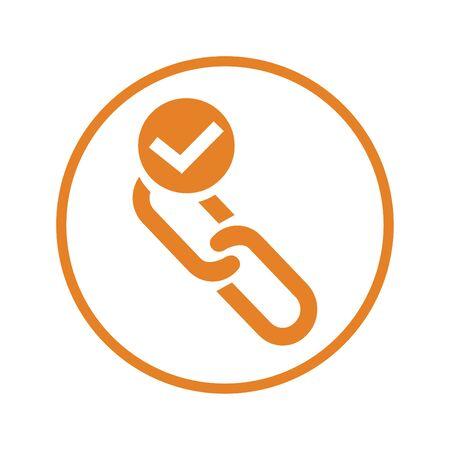 Active link / url icon Иллюстрация