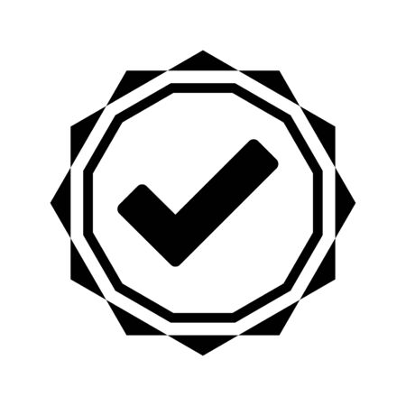 Well organized and fully editable Approved, ok, trusted, accepted icon for any use like print media, web, stock images, commercial use or any kind of design project. Hope this icon help you. Thanks for using it. Ilustração