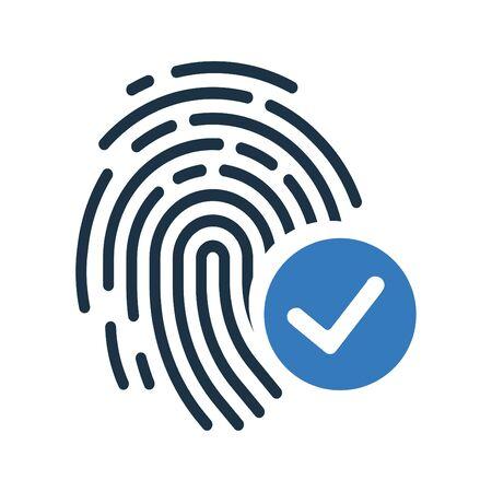 Fingerabdruck erkennen, akzeptiert Symbol