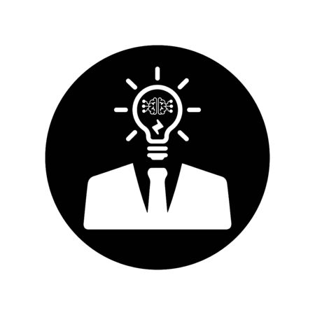 Beautiful design and fully editable Business Thinking, Idea Generate, Smart Idea Icon for commercial, print media, web or any type of design projects. 矢量图像