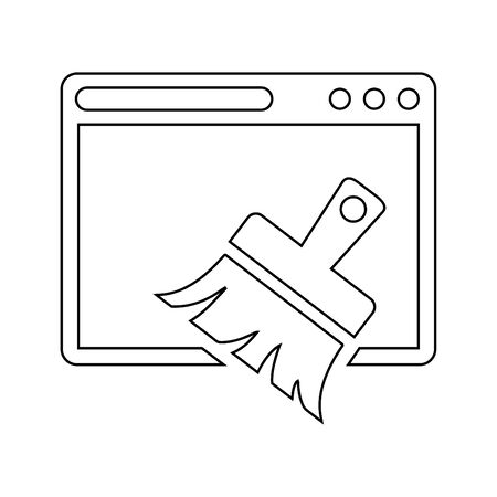 Well organized and fully editable Browser cleaner, cleanup, broom icon for any use like print media, web, commercial use or any kind of design project. Thanks for using it. Çizim